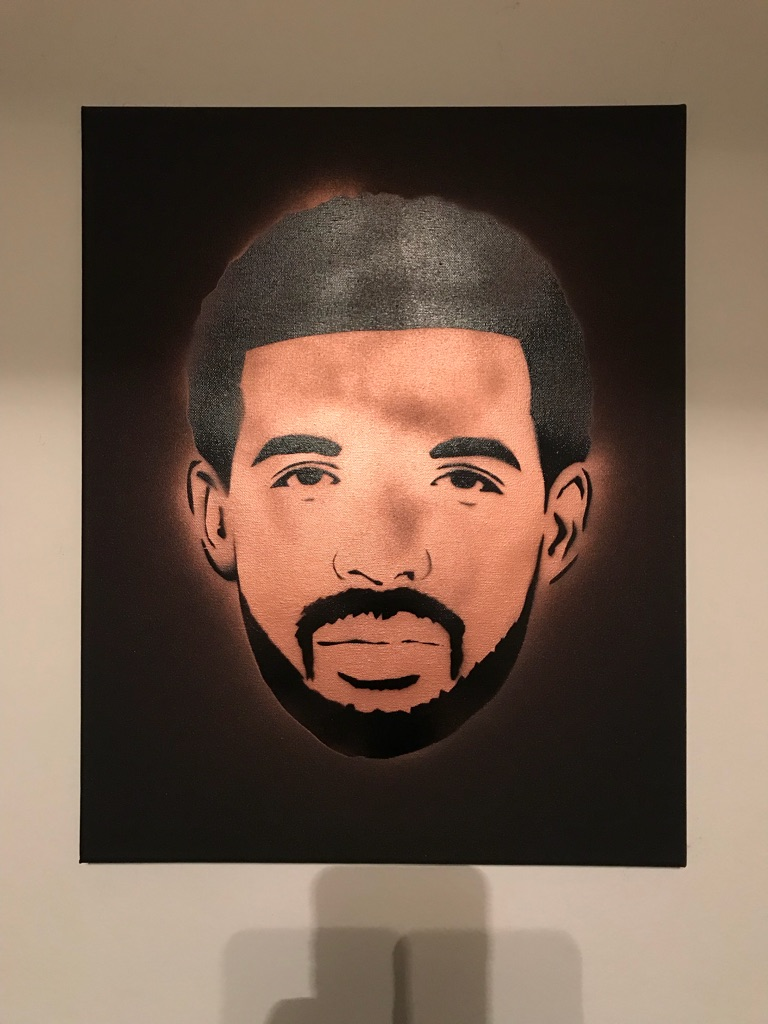 Drake 16x20 Graffiti Canvas