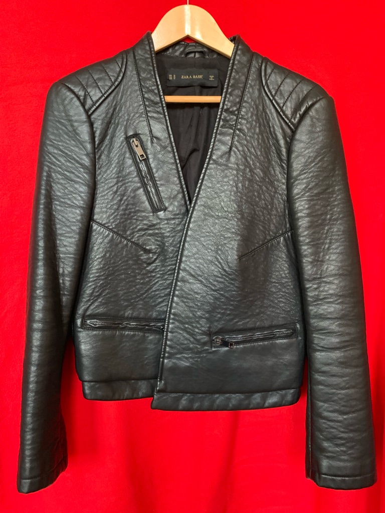 ZARA faux leather jacket XL