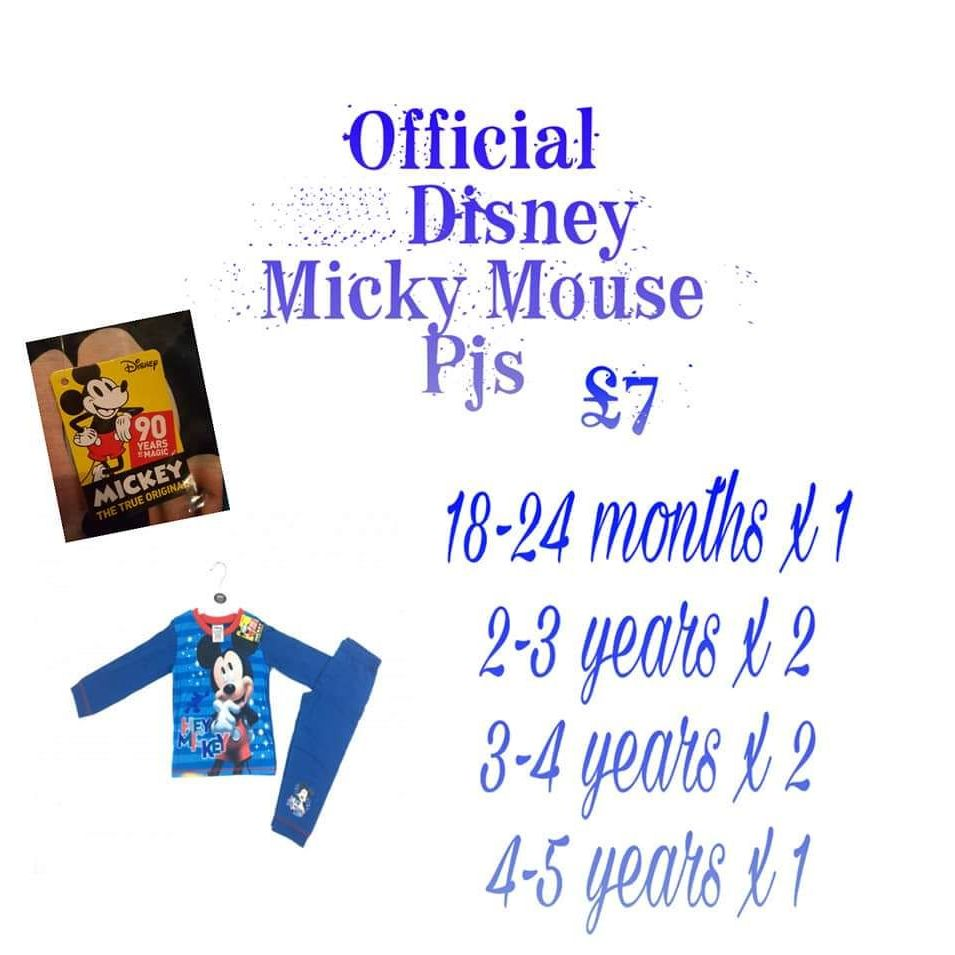 Official Disney micky mouse pjs