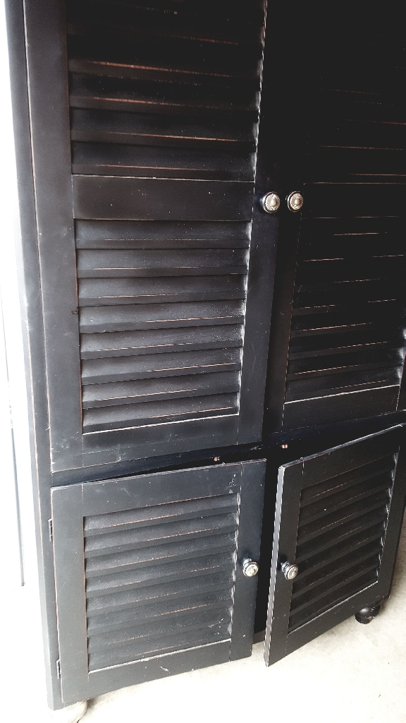 Black TV Entertainment Armoire