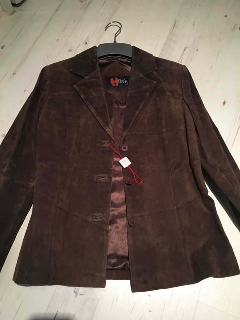 Brown real suede jacket new