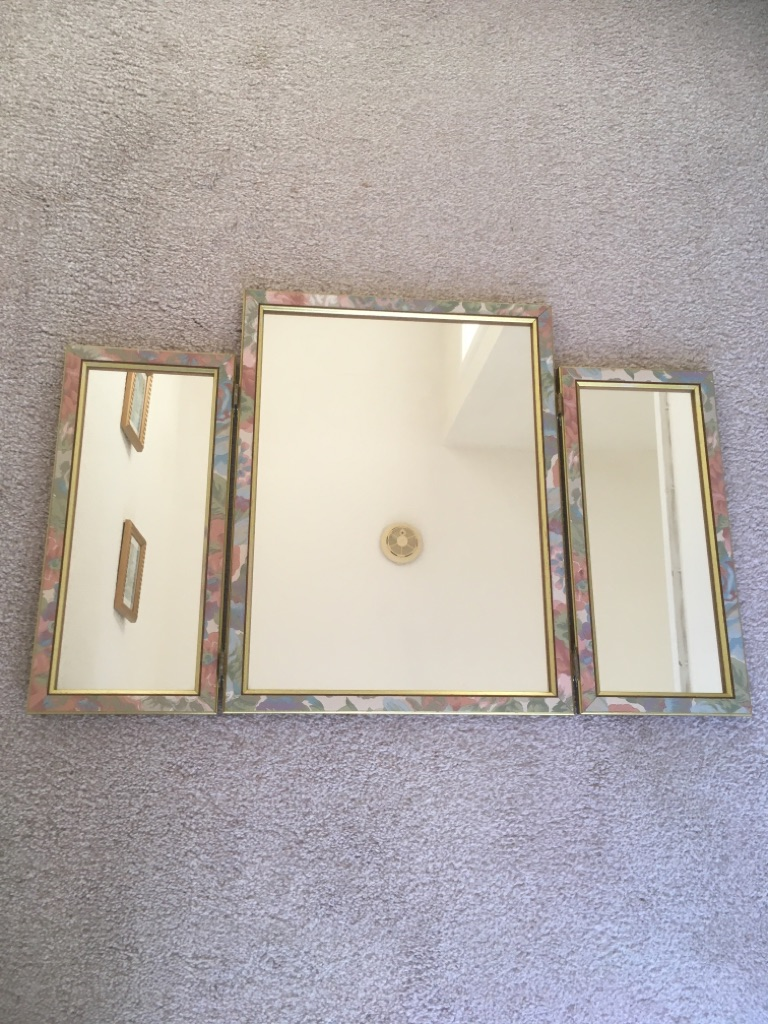 Set of three Vanity mirrors