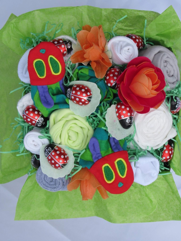 The Hungry Caterpillar baby bouquet
