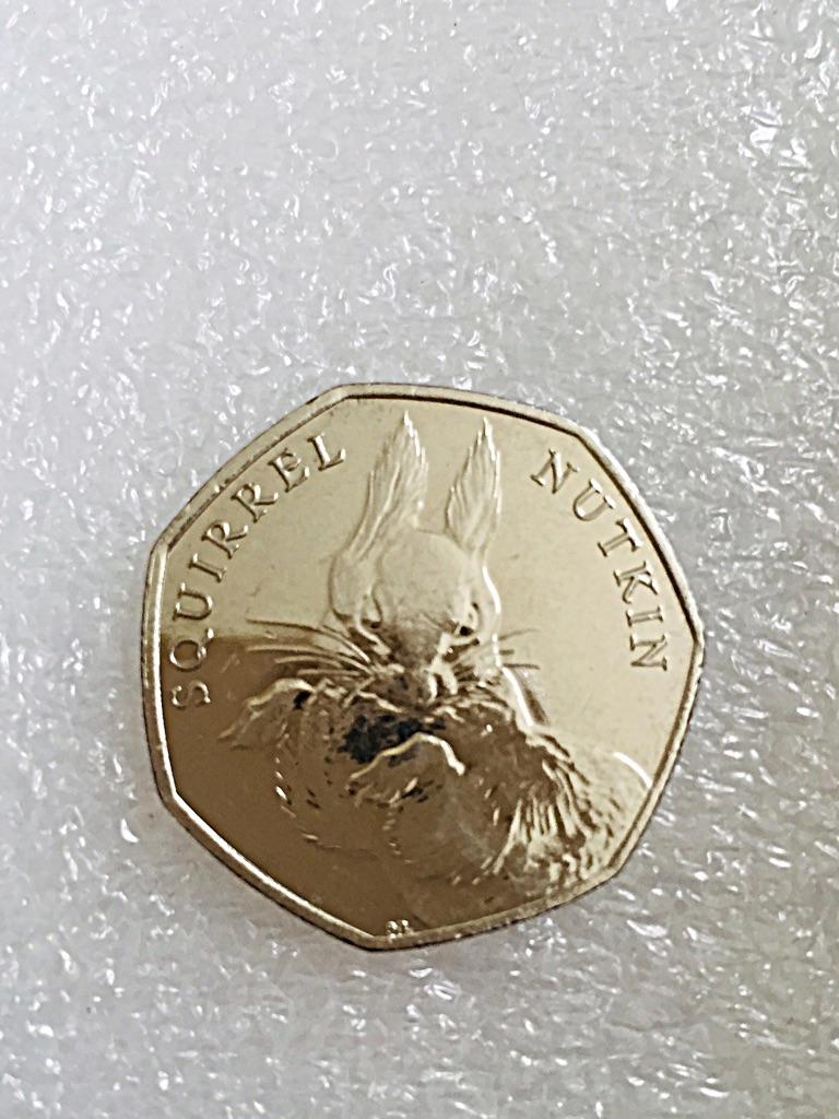 50p coin squirrel Nutkin 2016.
