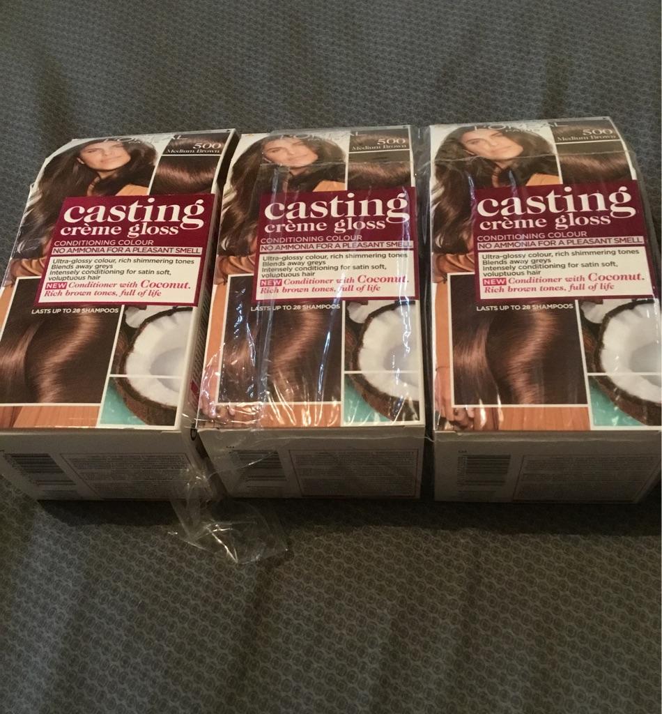 L'Oréal hair tint medium brown
