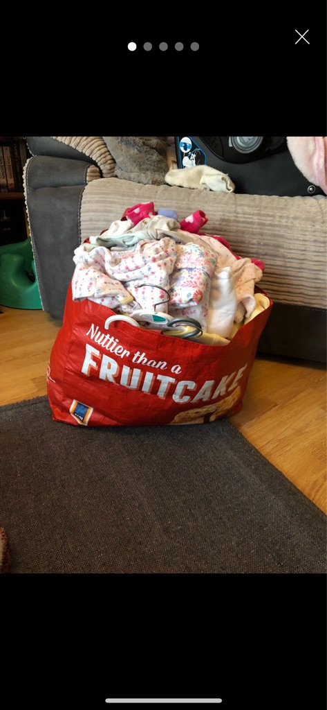 Extra large bundle of 0-3 months baby girl clothes