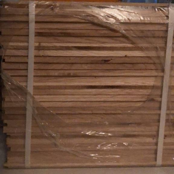 Natural oak parquet flooring unfinished