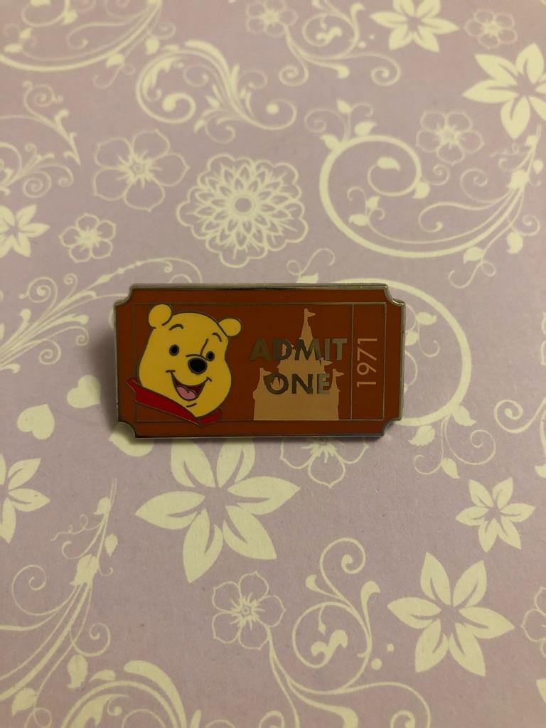 Pooh ticket Disney pin