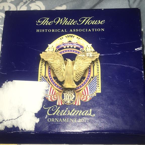 White House historical association Christmas ornament 2017