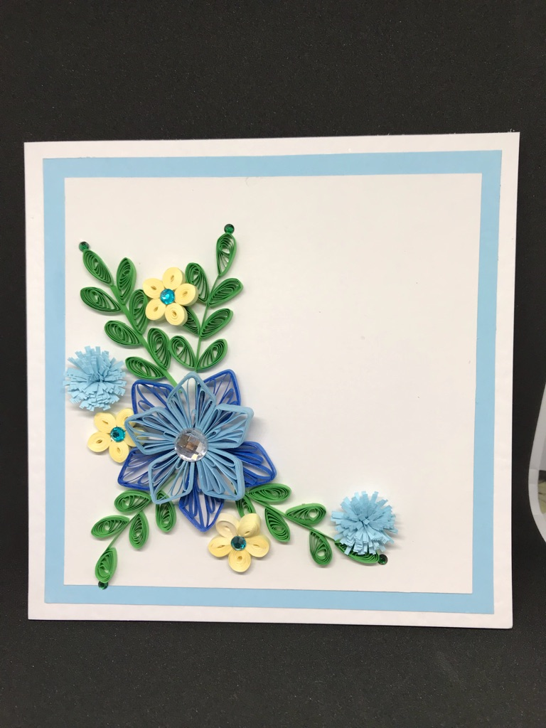100% Handmade quilling card for any occasion