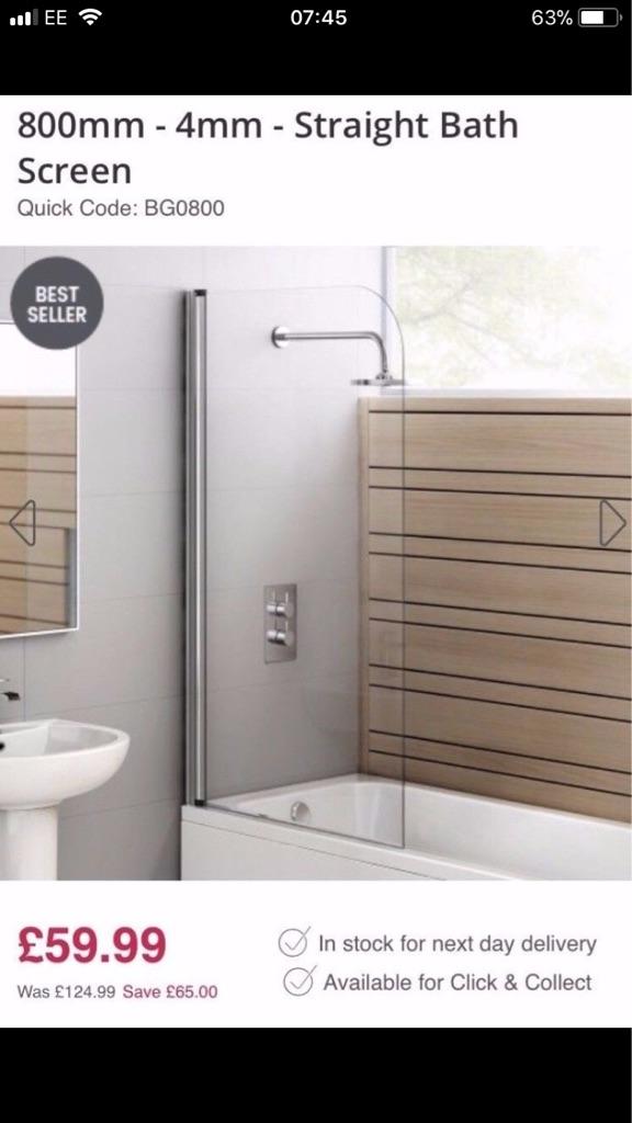 Bath shower screen - New