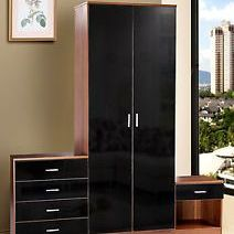 Wardrobe with chest of drawers and bed side cabinet