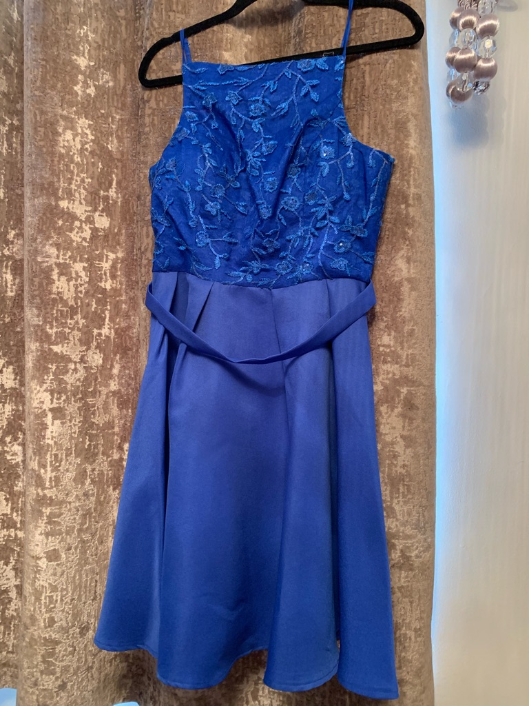 Quiz blue size 12 occasion dress