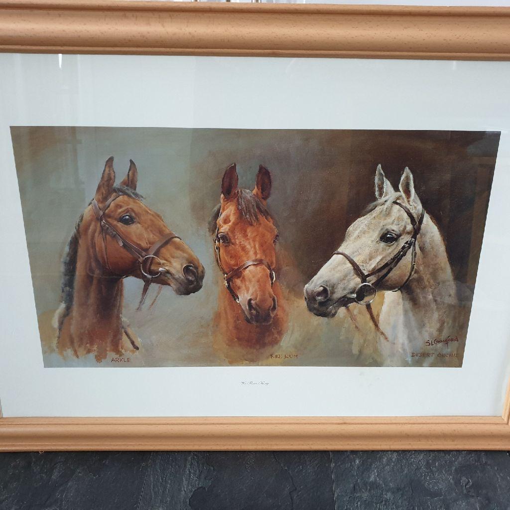 We Three Kings - Framed Horse Art