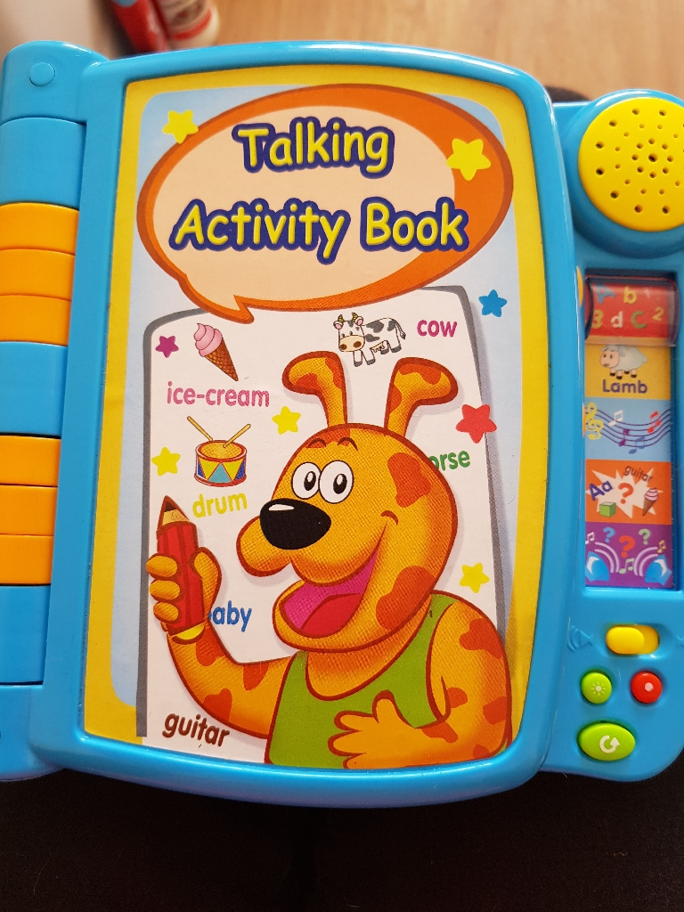 Talking activity book