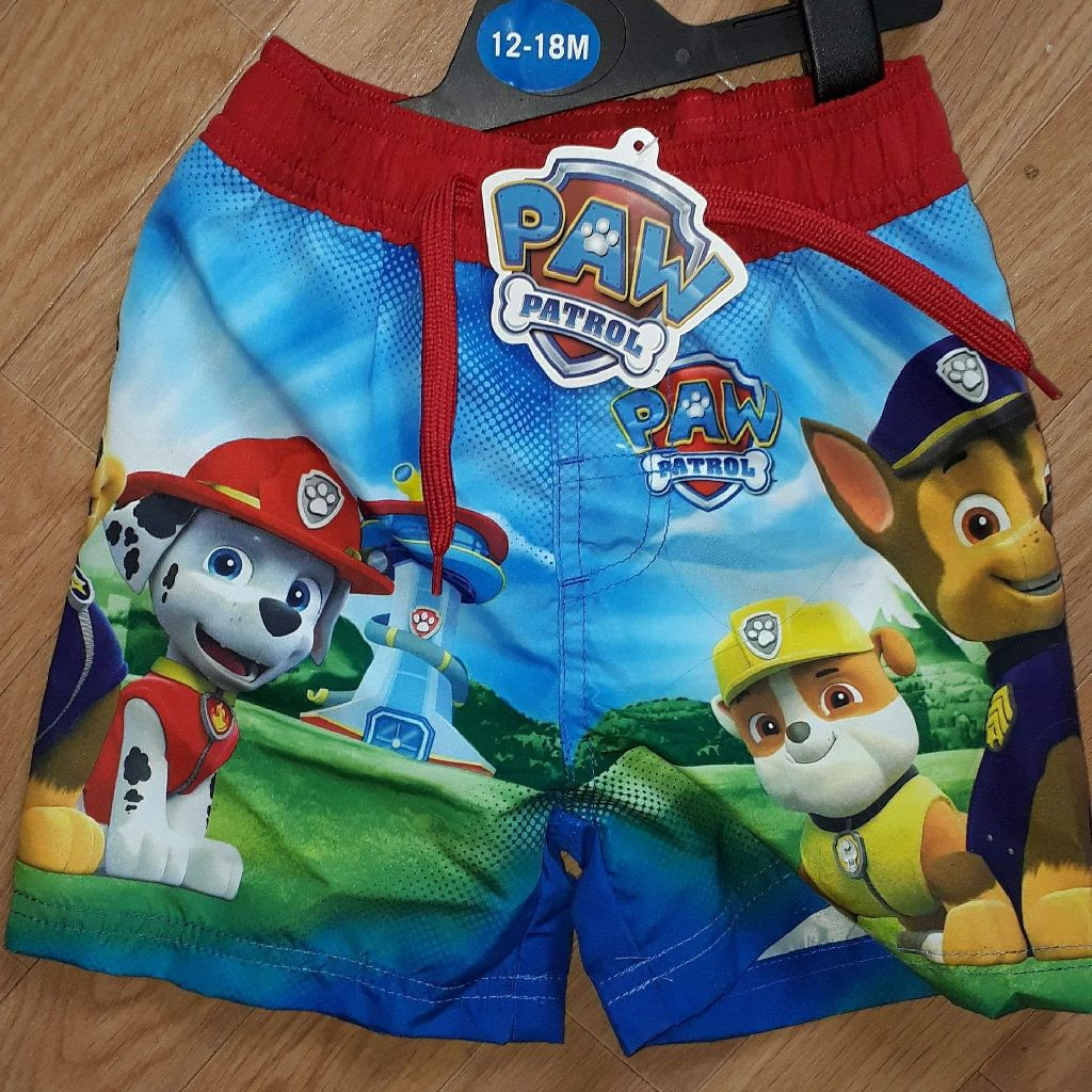 Boys paw patrol swim trunks age 12-18 months