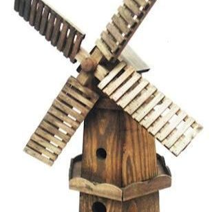 Wooden Windmill Garden Ornament - 58cm