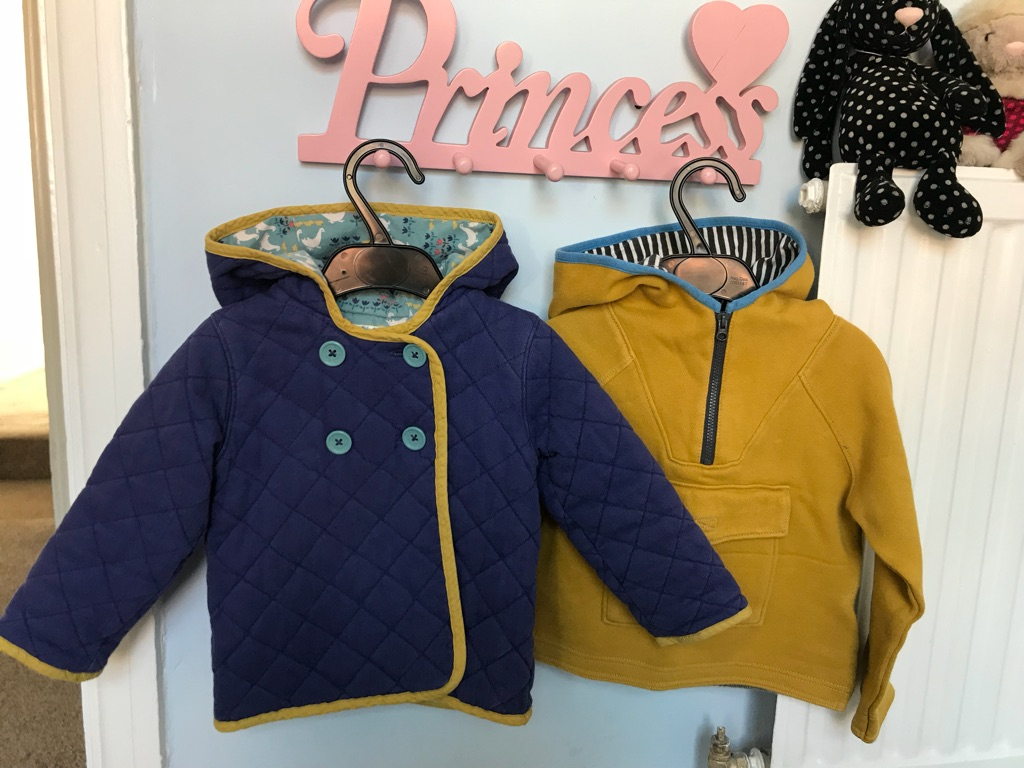 Mini Boden coat and jumper. 18-24months