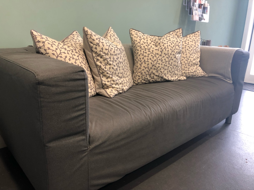 Ikea klippin two seater sofa with grey removable cover