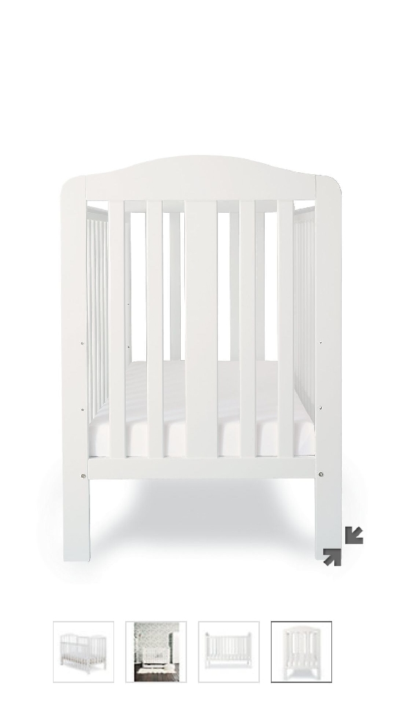 White Mothercare Cot