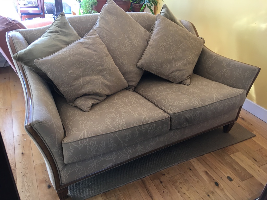 Elegant Georgian style (sandy colour) 2 seater sofa great condition