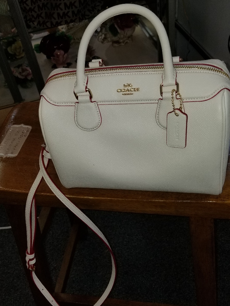 COACH PURSE  OFF WHITE NEW WITH. TAGS