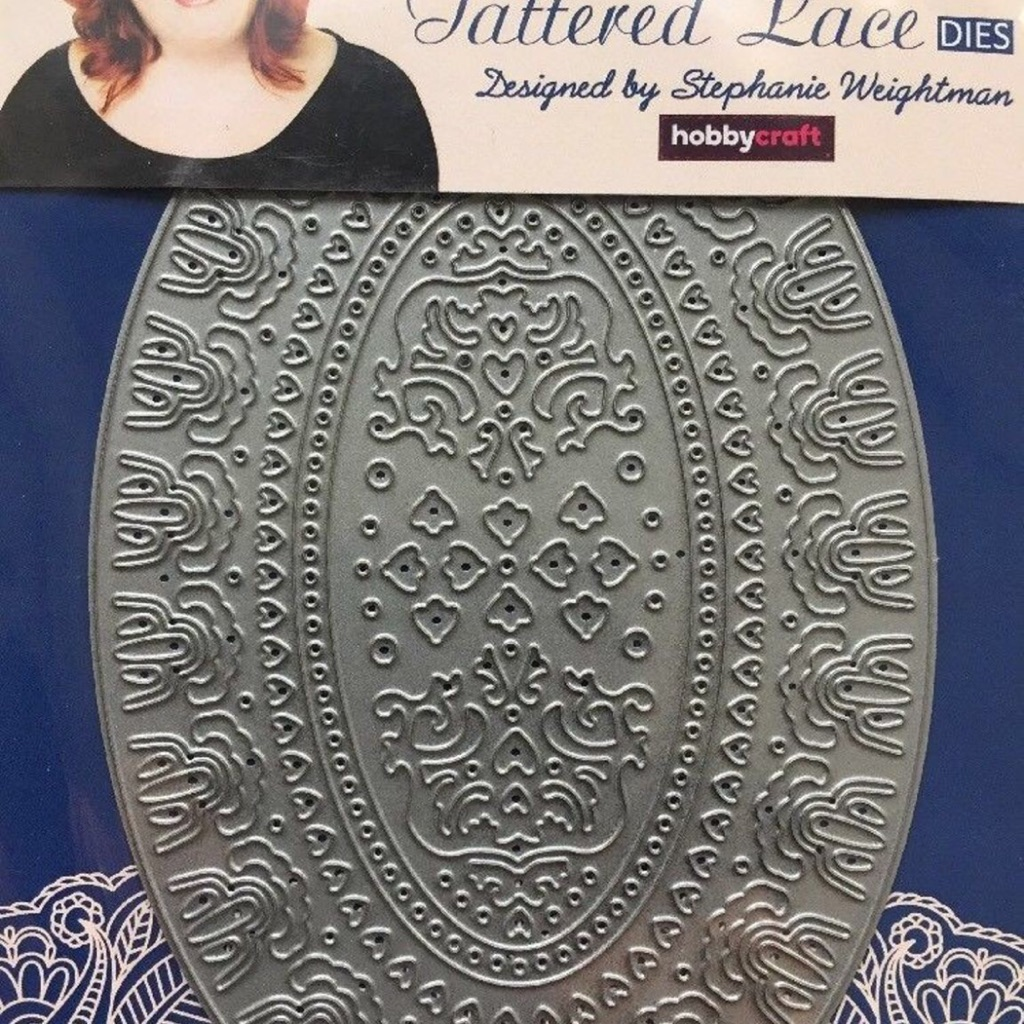 Tattered lace victorian oval craft die new