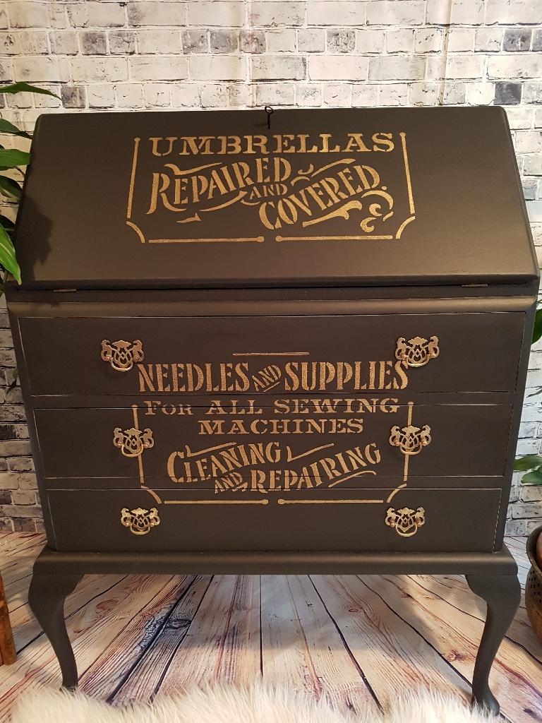 Upcycled vintage bureau