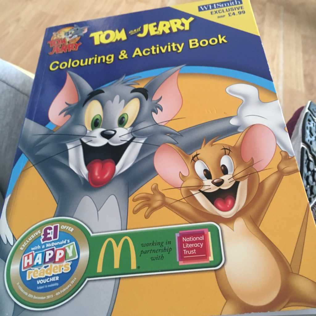 Tom and Jerry colouring and activity book