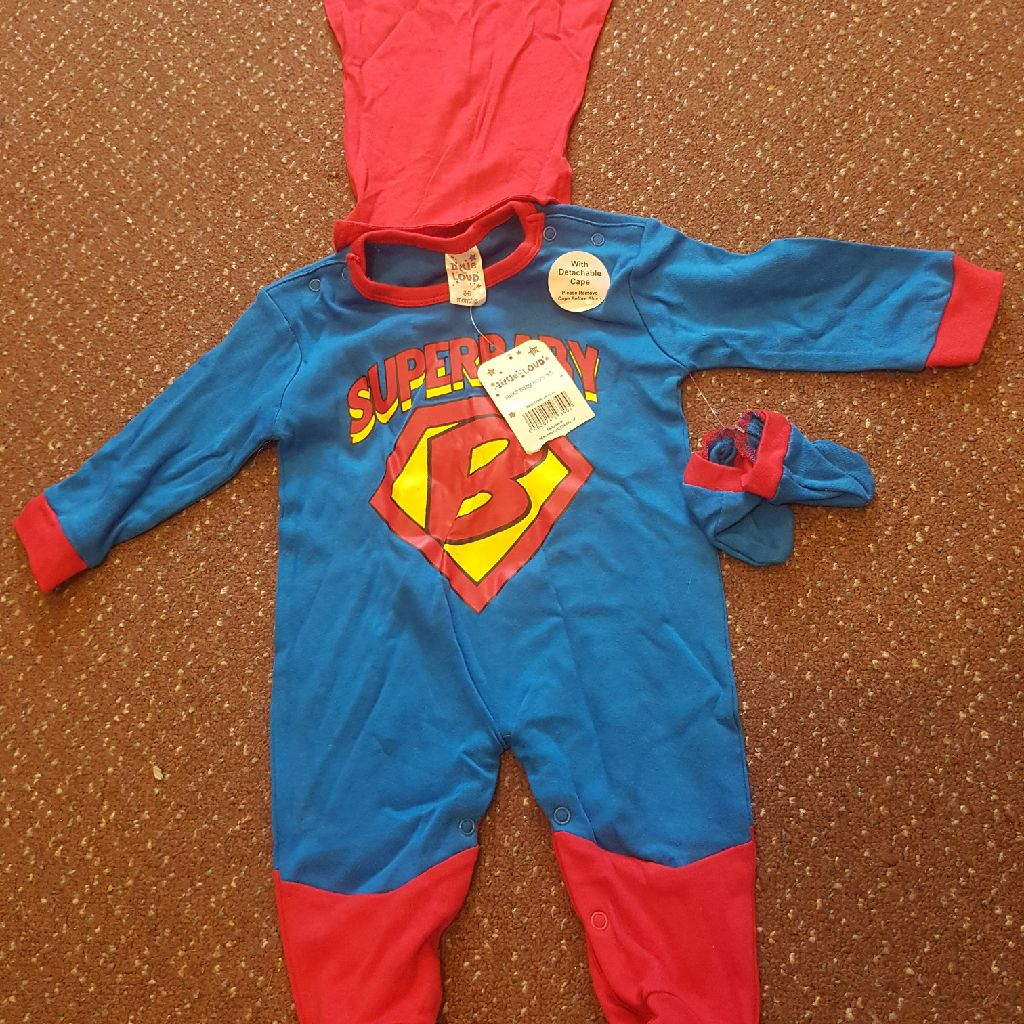 Baby Superman 3-6 months NEW WITH LABELS