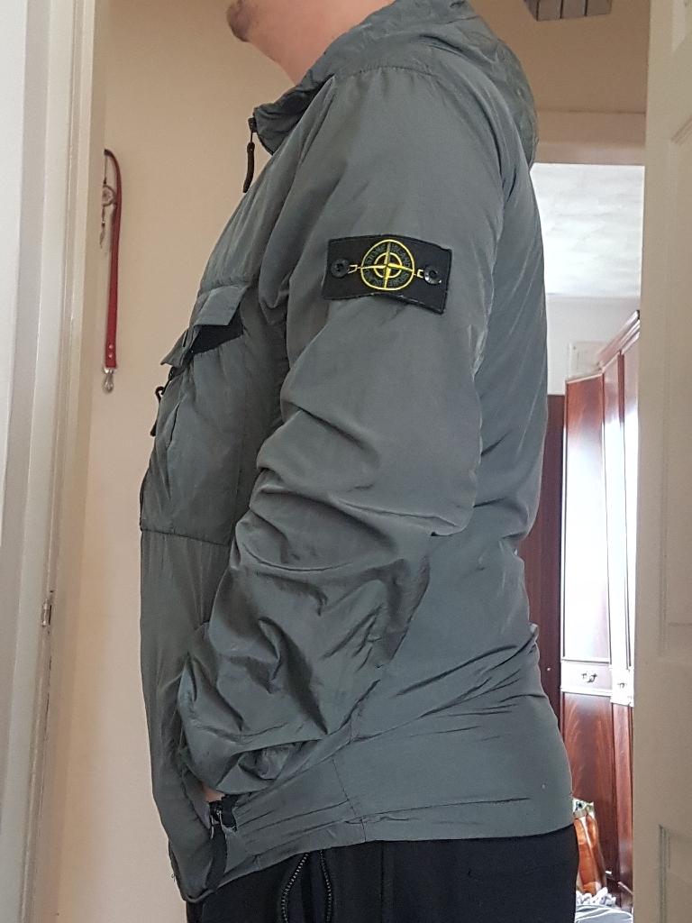 Reflective Gray Stone Island Jacket