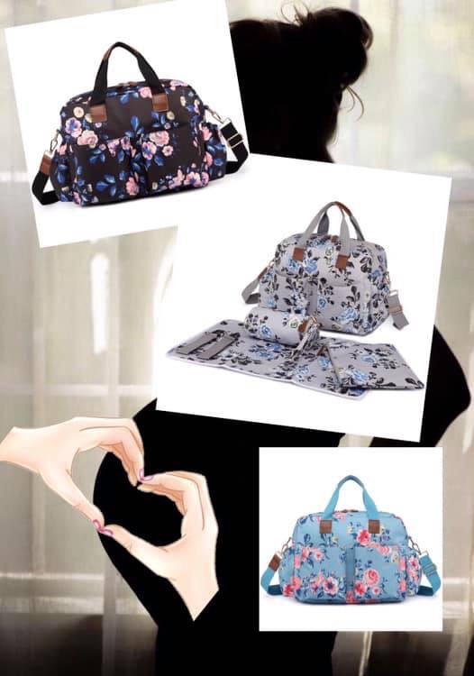 Floral Print Maternity Bag