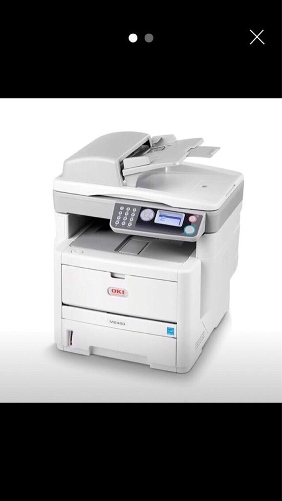 OKI MB460 A4 Mono Multifunction Laser Printer (Print/Scan/Copy)