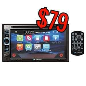 Blaupunkt screen touch screen radio with bluetooth for only $79