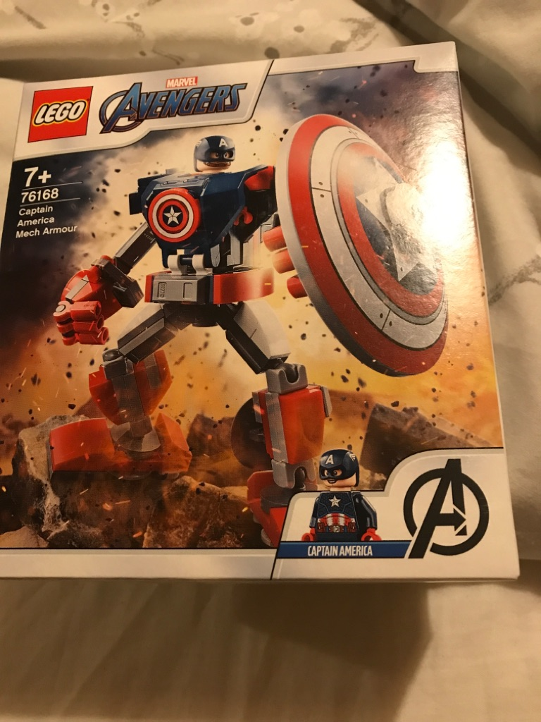 Lego Marvel Avengers Captain America Mech Armour set