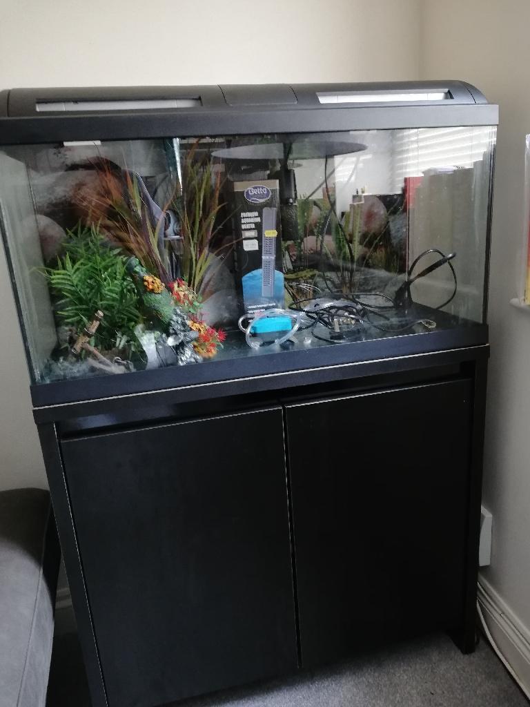 90L fish tank (full set up)