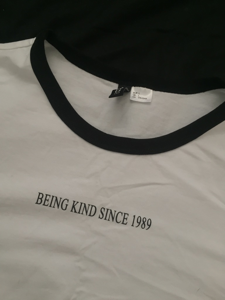 H&M Slogan T-shirt Large
