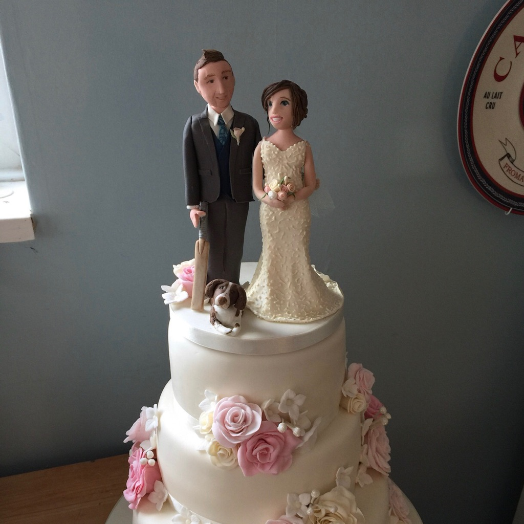 Personalised Bride and Groom wedding cake toppers