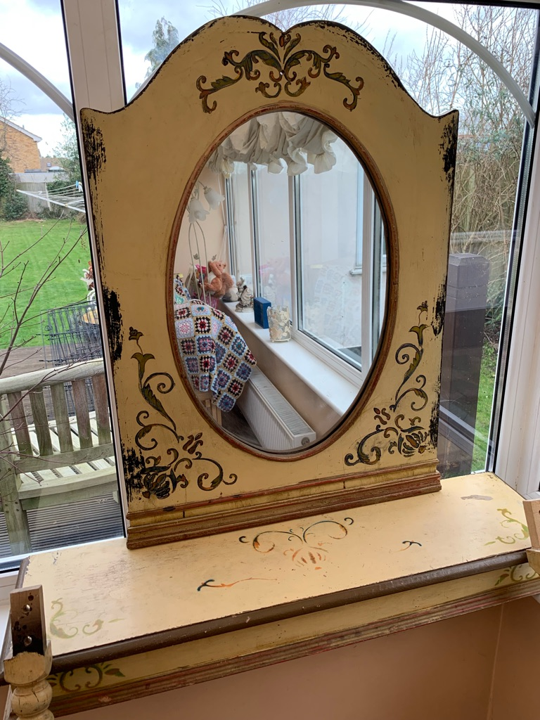 Shabby Chic console table & mirror