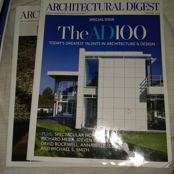 Architecural Digest magazines