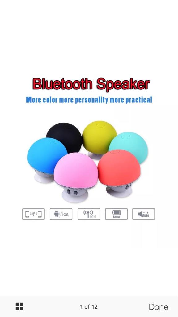 Novelty mushroom Bluetooth speaker