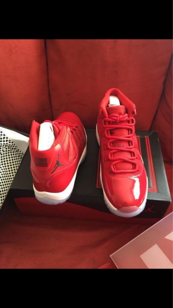 Red Jordan 11's (Size 10)