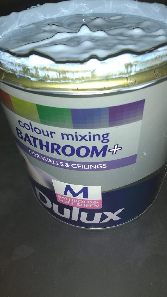 2.5l light blue bathroom Dulux paint