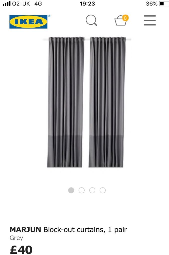 Grey thick luxury black out curtains