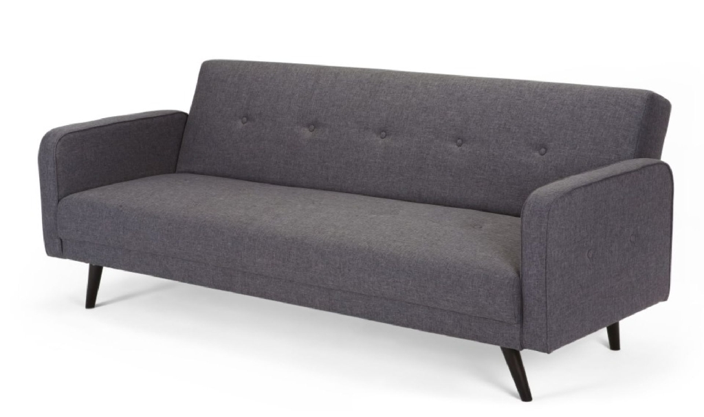 SOFA BED: AUTHENTIC MADE BRAND, NEW, UNUSED, CIGNET GREY, 3 SEATER