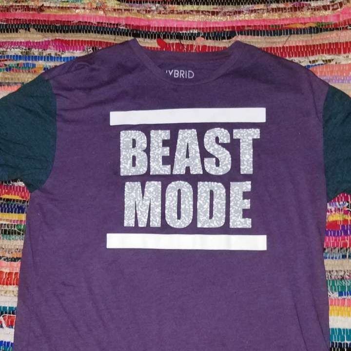 Beast mode maroon t-shirt