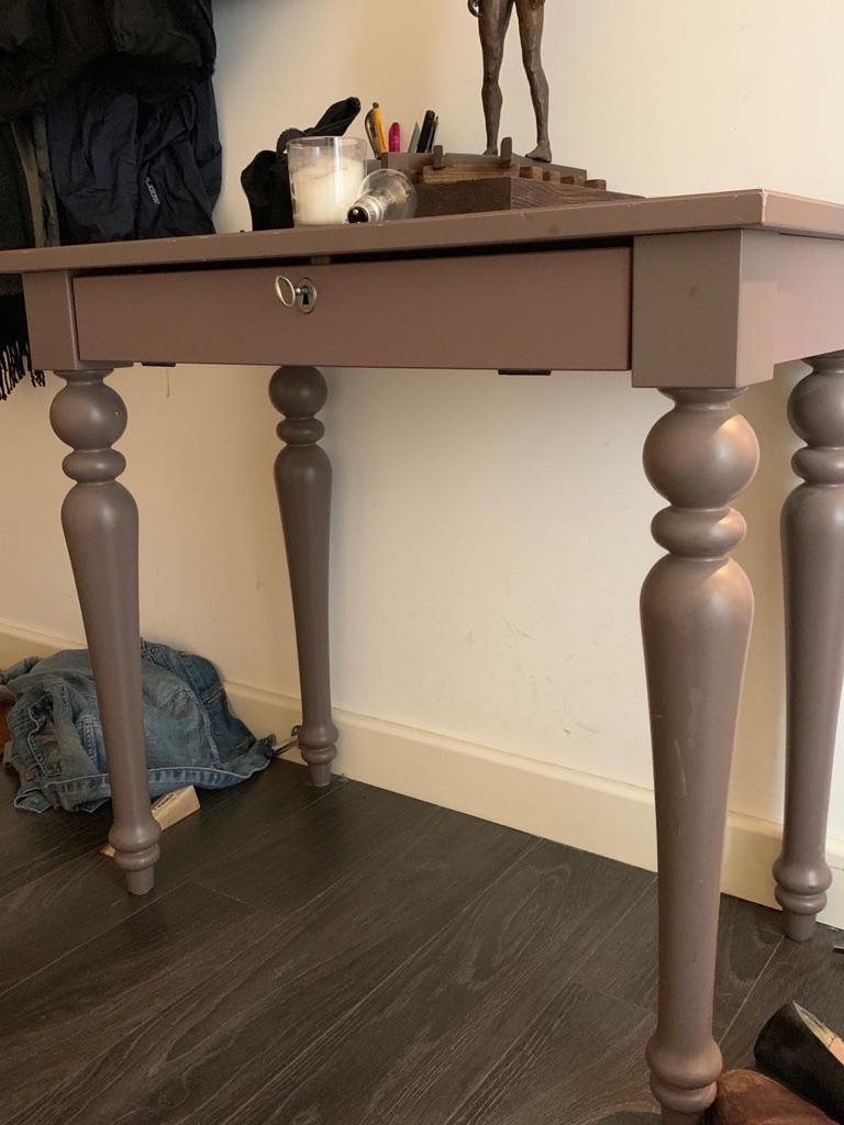 Purple IKEA desk/dressing table