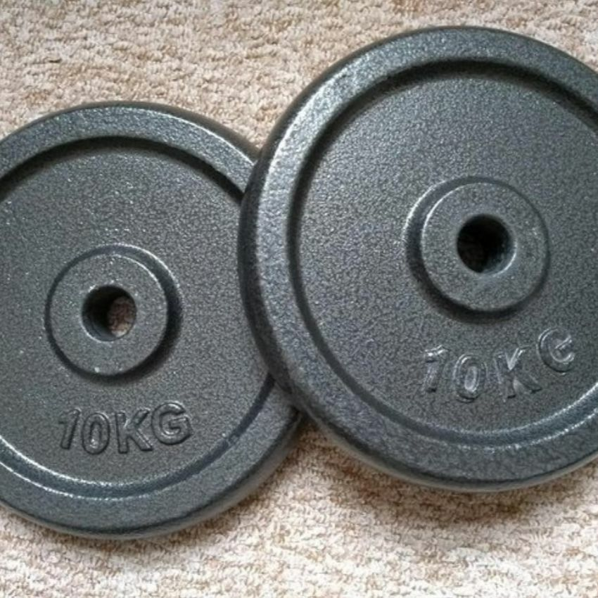 "Pair of 1"" Weight Discs ~ 10kg"