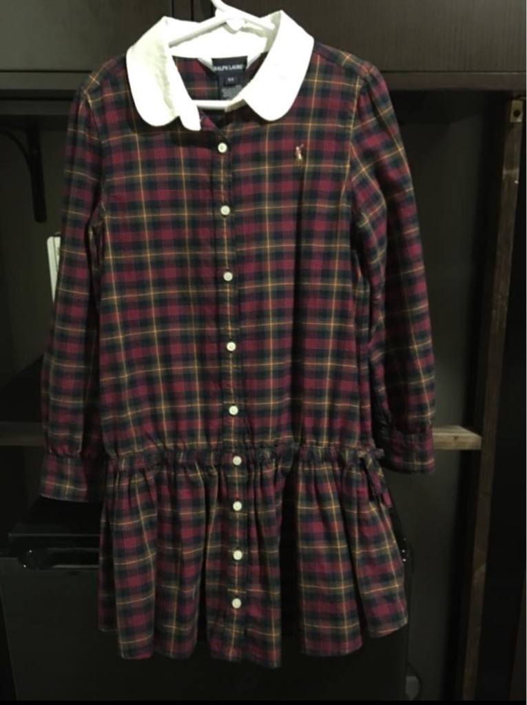 Girl's Ralph Lauren's shirt dress, Size 6X