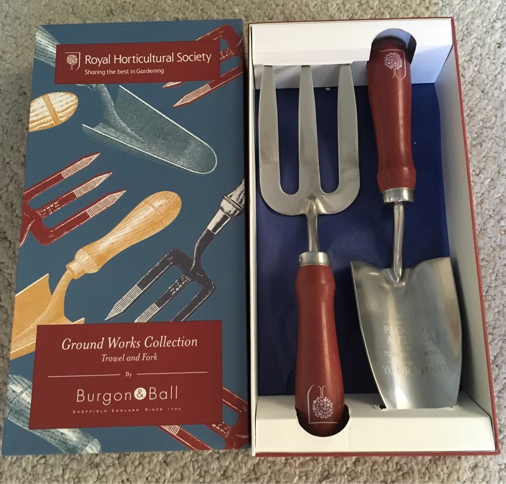 NEW trowel & fork by Burgon & Ball - Ground Works gardening tools Collection